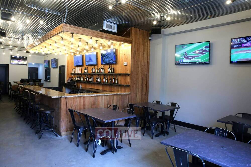 Abe's Corner features a wide-open bar